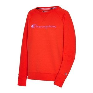 Champion Sweater Powerblend Fleece Oversized Crew Neck Red Extra Large